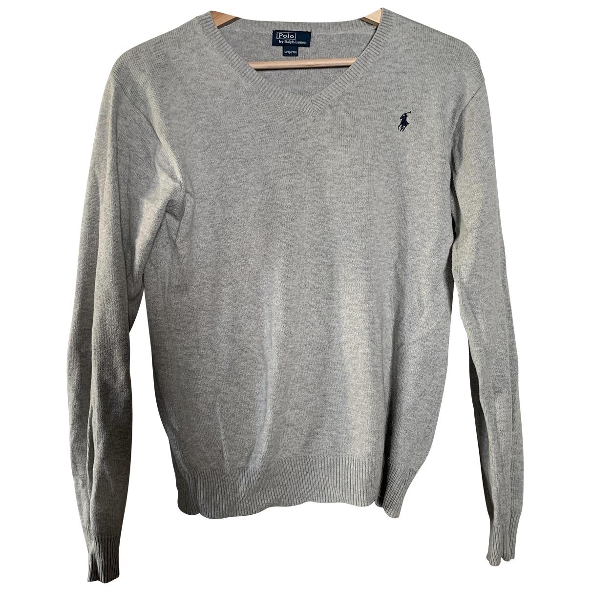 Polo Ralph Lauren \N Grey Cotton Knitwear for Kids 16 years - M UK