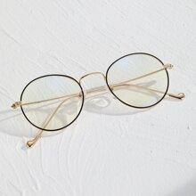 Maenner Brille mit metallischem Rahmen