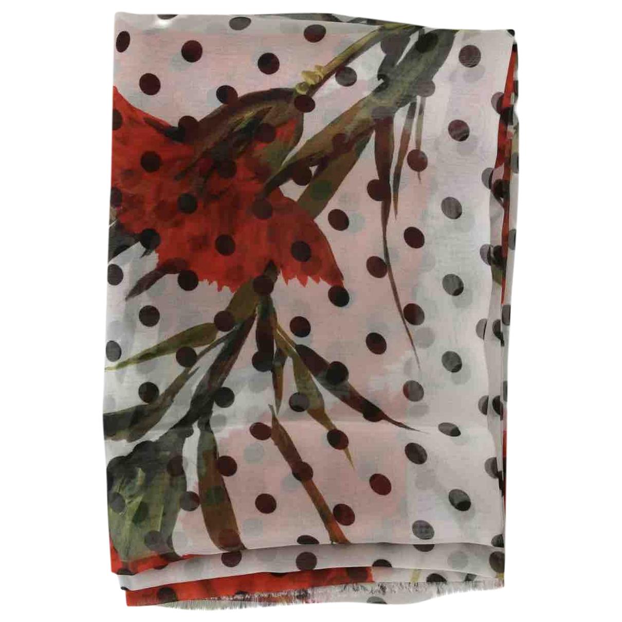 Dolce & Gabbana \N White Silk scarf for Women \N