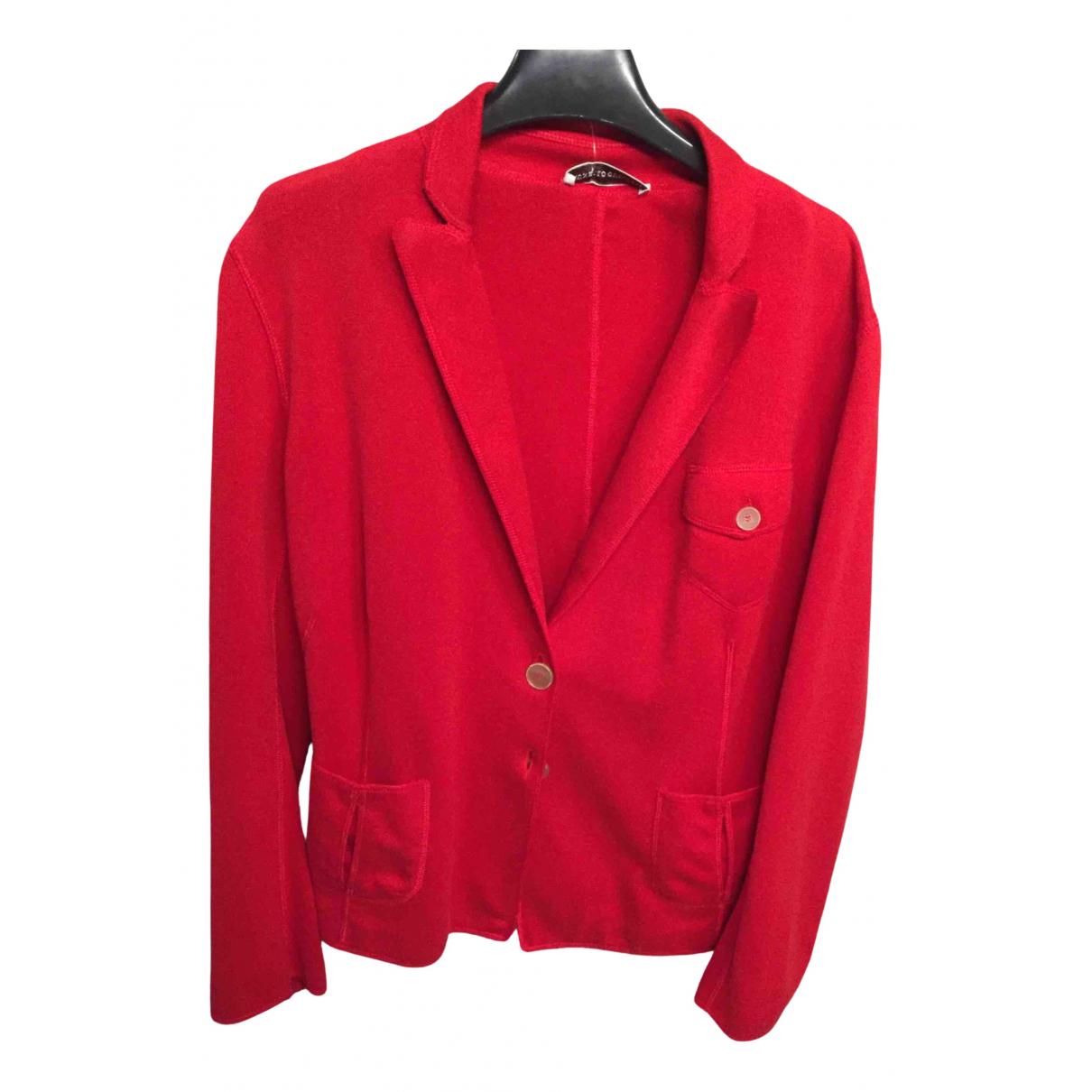 Brunello Cucinelli - Veste   pour femme en coton - rouge
