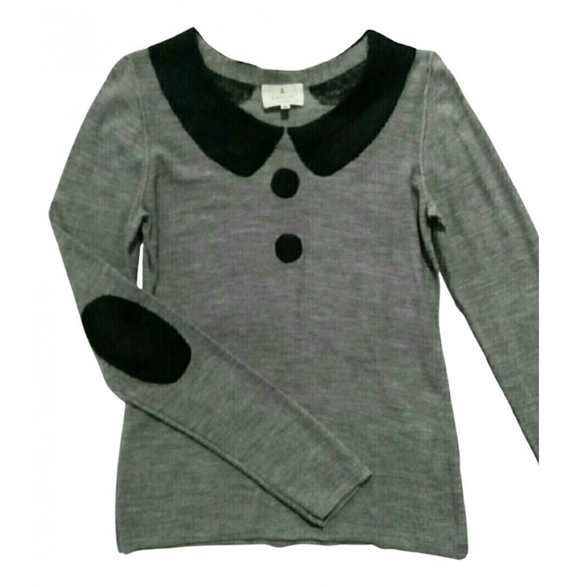 Lanvin - Top   pour femme en coton - gris