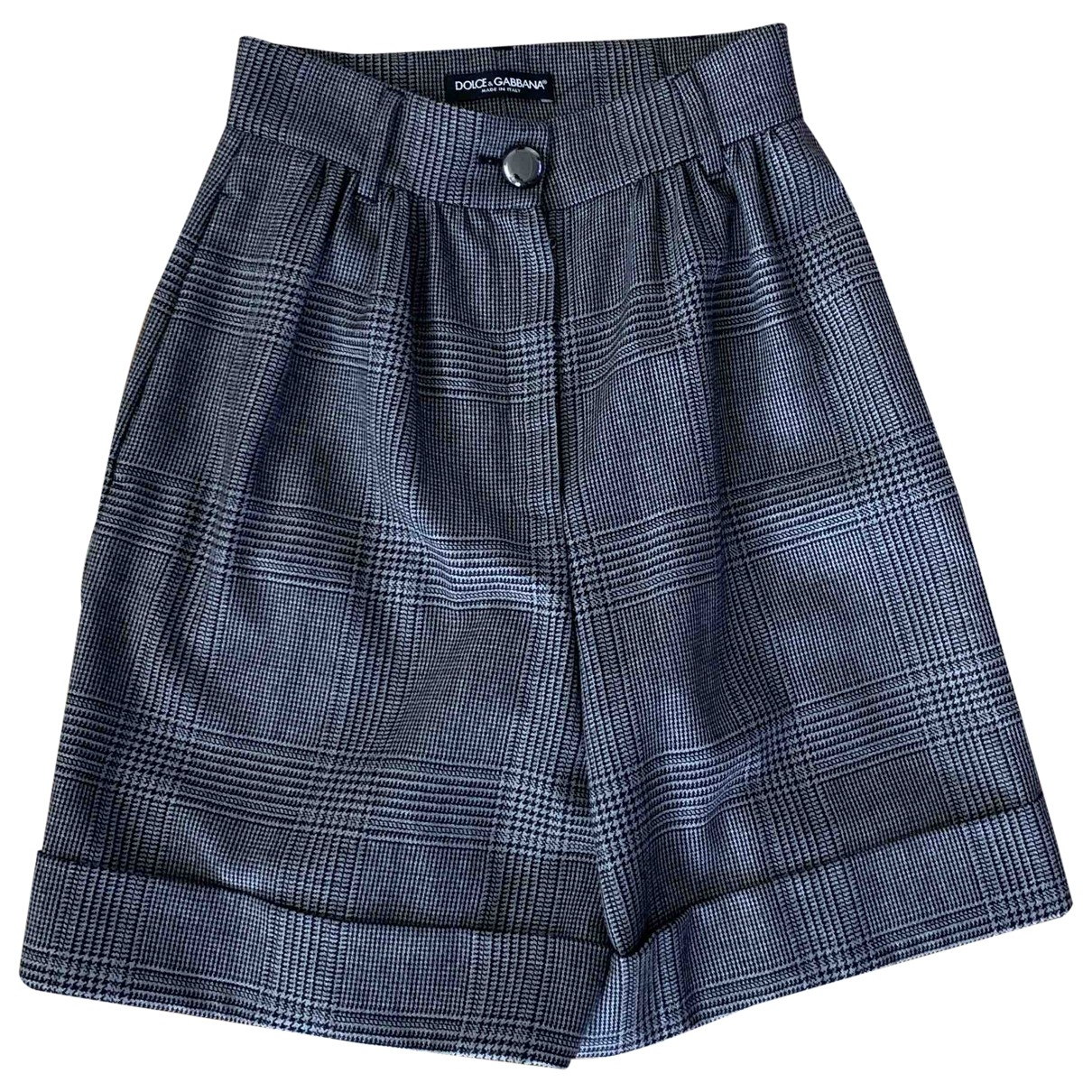 Dolce & Gabbana \N Anthracite Wool Shorts for Women 36 IT