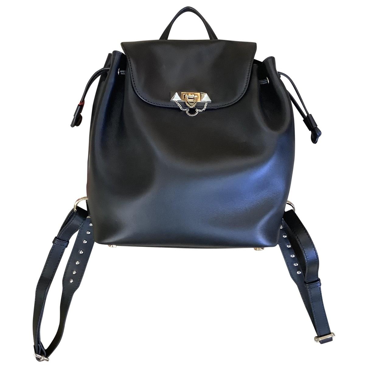 Valentino Garavani - Sac a dos Rockstud pour femme en cuir - noir