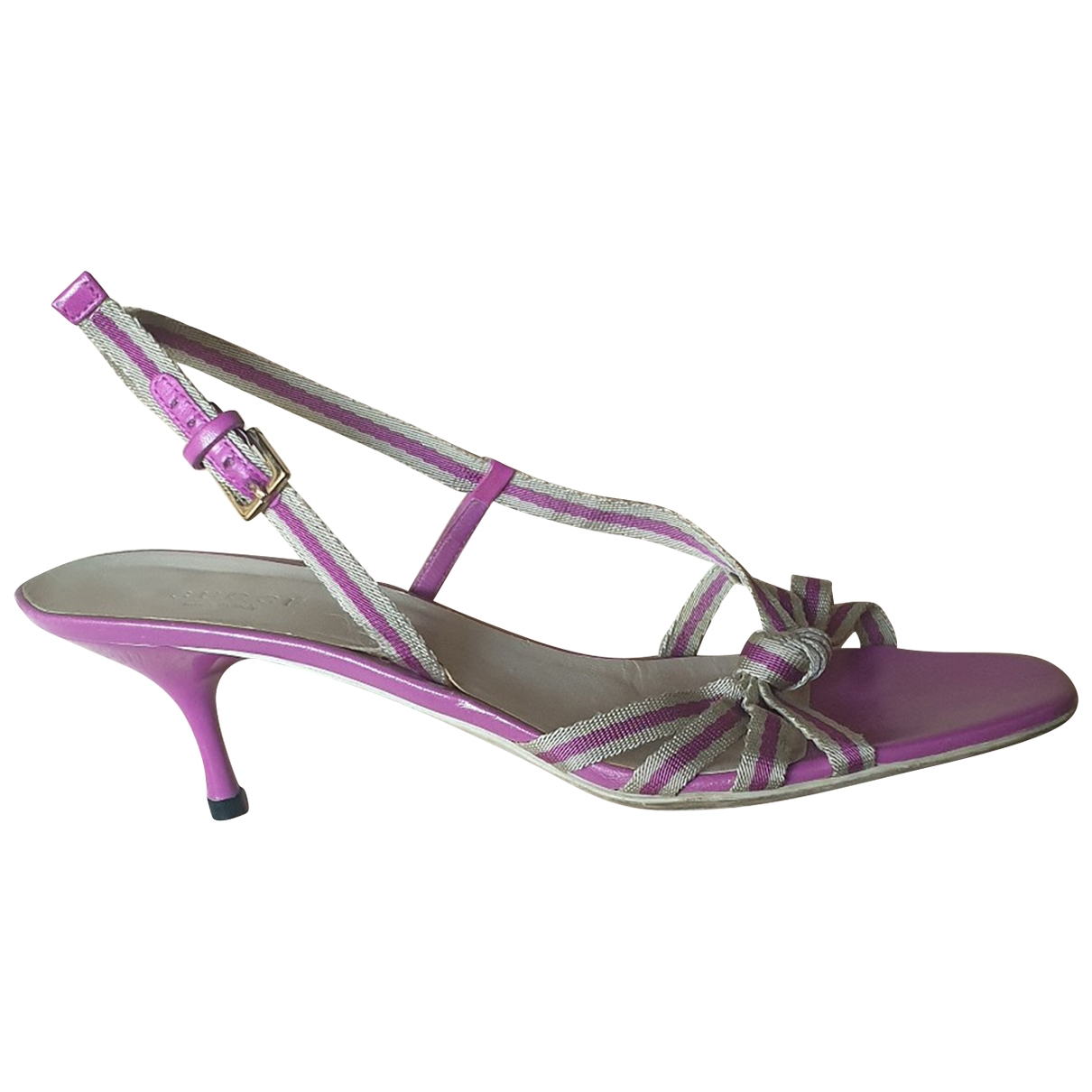 Gucci \N Pink Leather Sandals for Women 38 EU