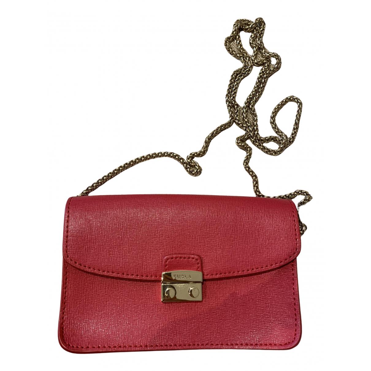 Furla N Red Leather Clutch bag for Women N