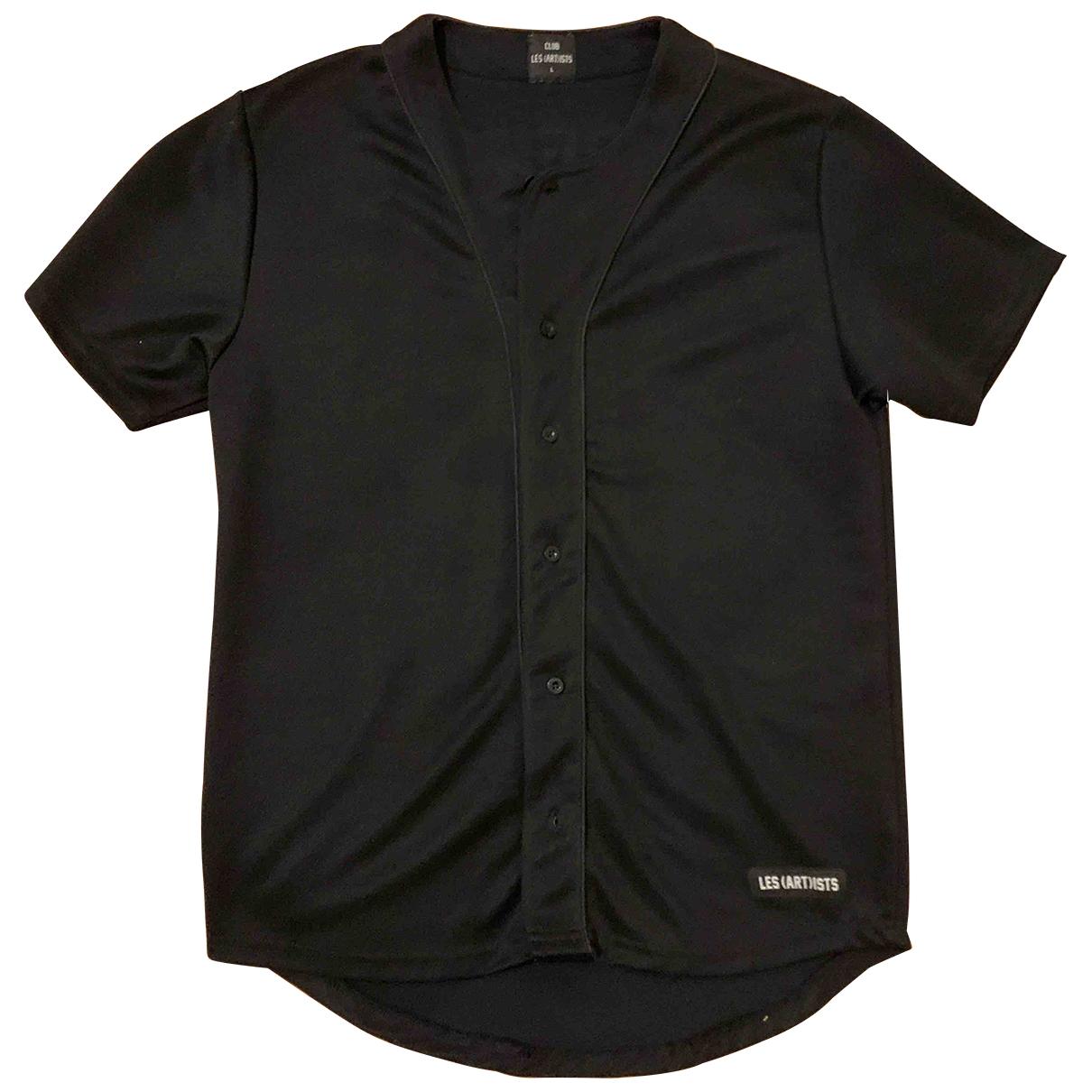 Les Artists - Tee shirts   pour homme en lycra - noir