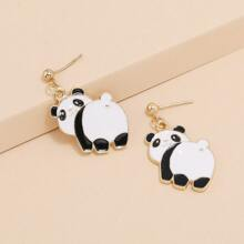 1pair Panda Drop Earrings
