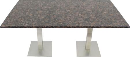 G215 30X48-SS05-17D 30x48 Tan Brown Granite Tabletop with 17