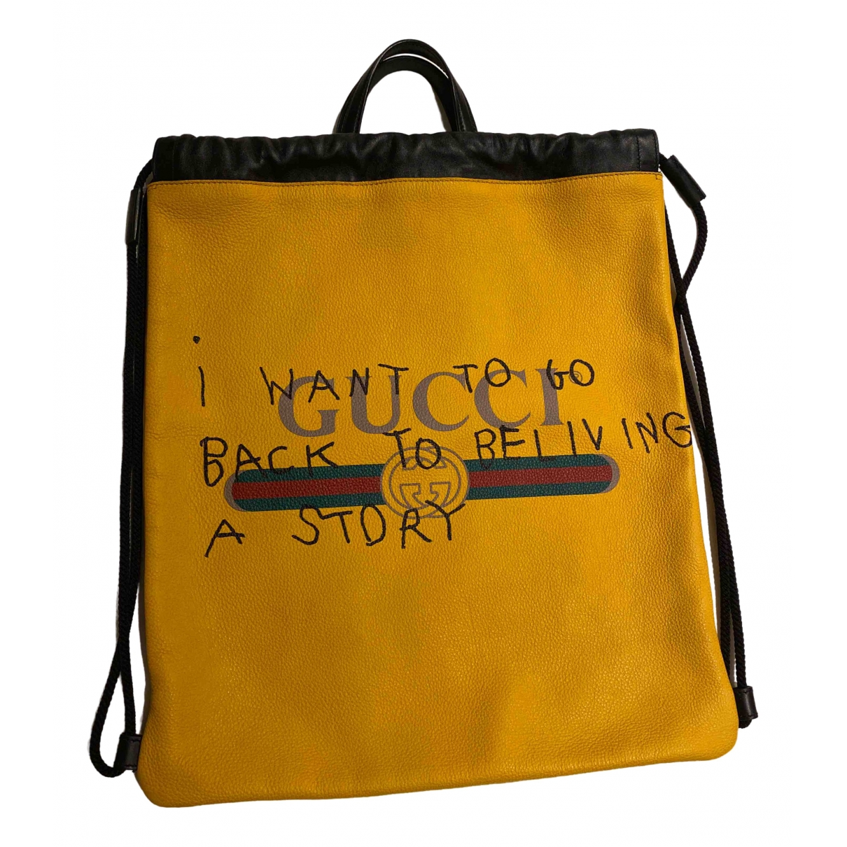 Gucci \N Rucksaecke in  Gelb Leder