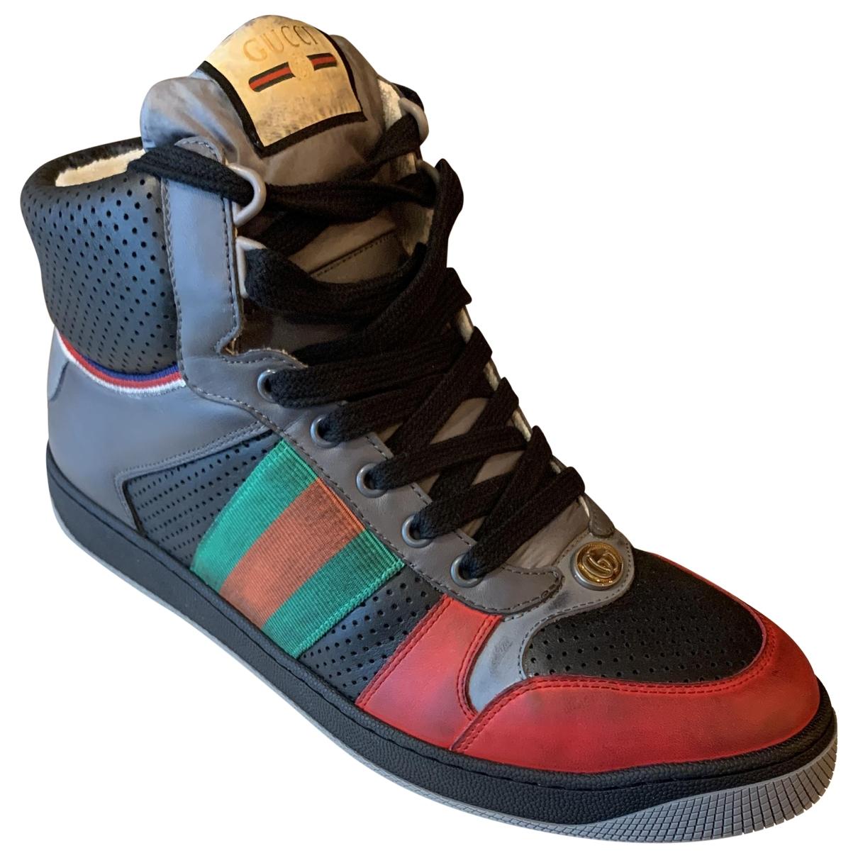 Gucci Screener Sneakers in  Bunt Leder