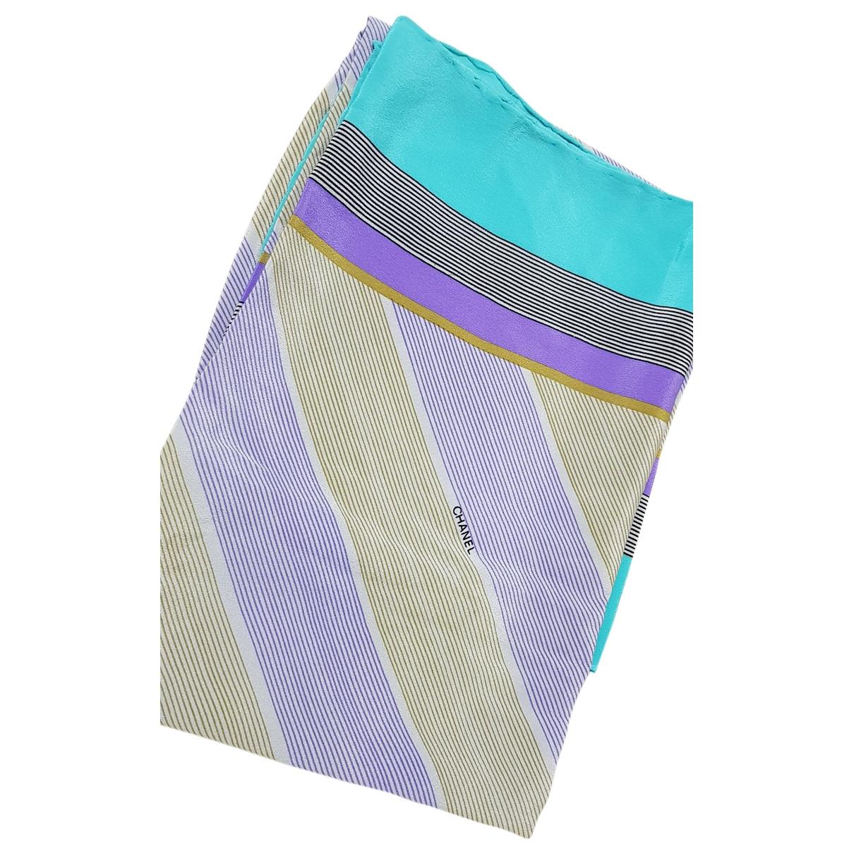 Chanel - Carre   pour femme en soie - multicolore