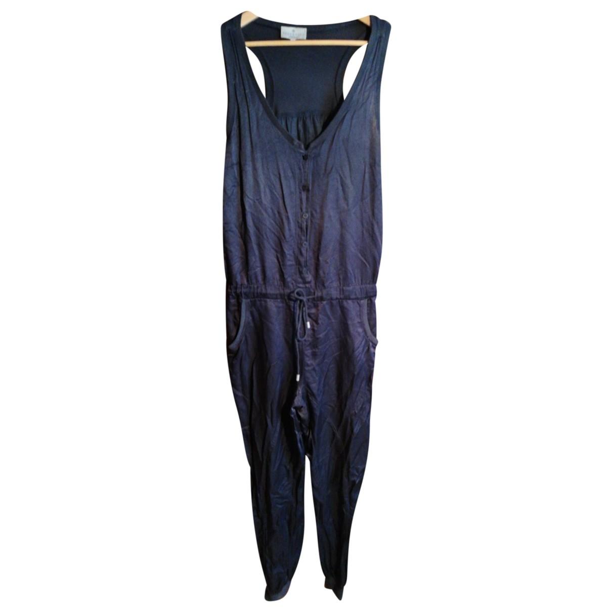 Essentiel Antwerp - Combinaison   pour femme en soie - bleu