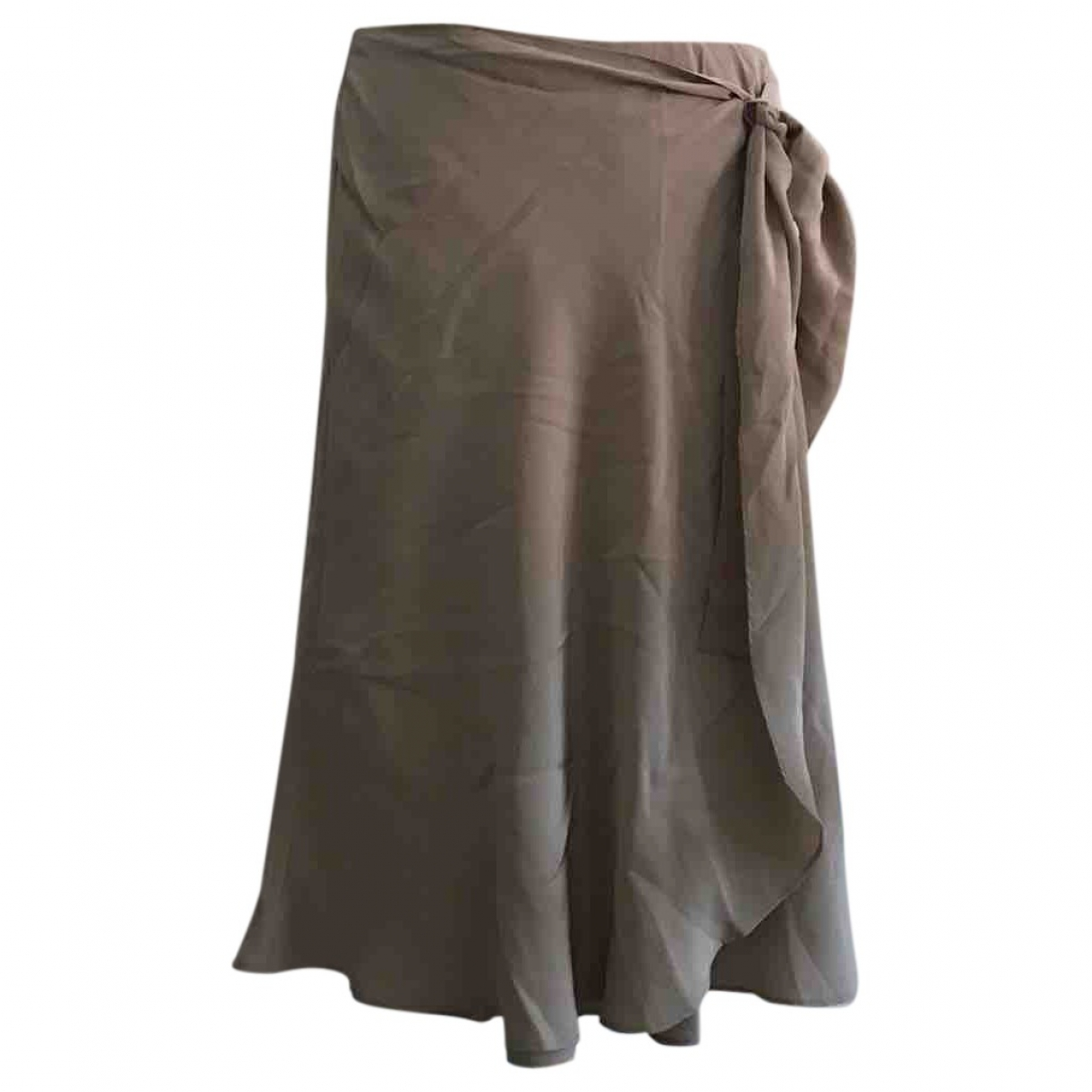 La Perla \N Beige Silk skirt for Women 44 IT