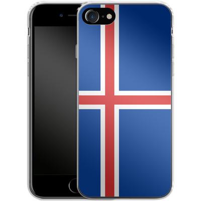 Apple iPhone 7 Silikon Handyhuelle - Iceland Flag von caseable Designs
