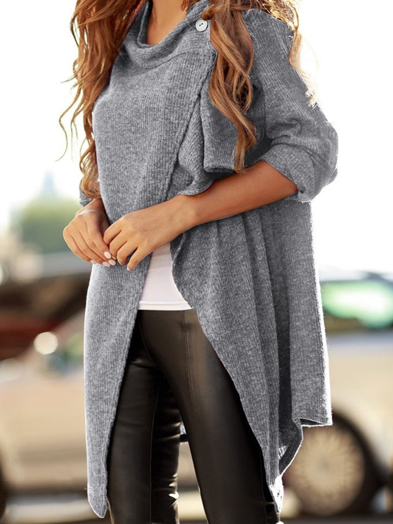 Ericdress One Button Regular Thin Mid-Length Loose Sweater