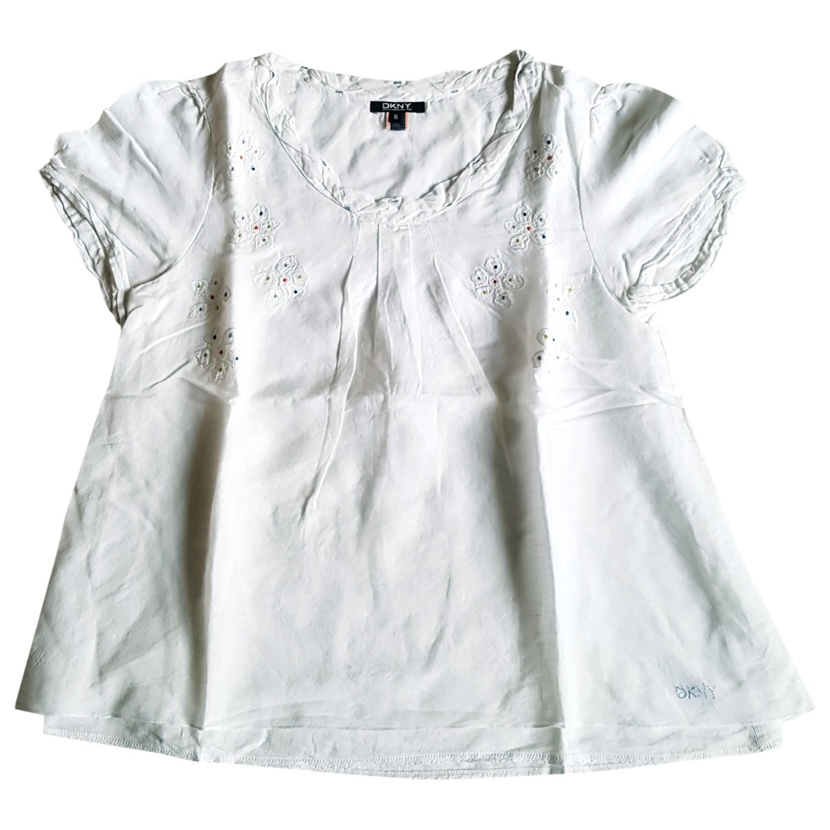 Dkny - Top   pour enfant en lin - blanc