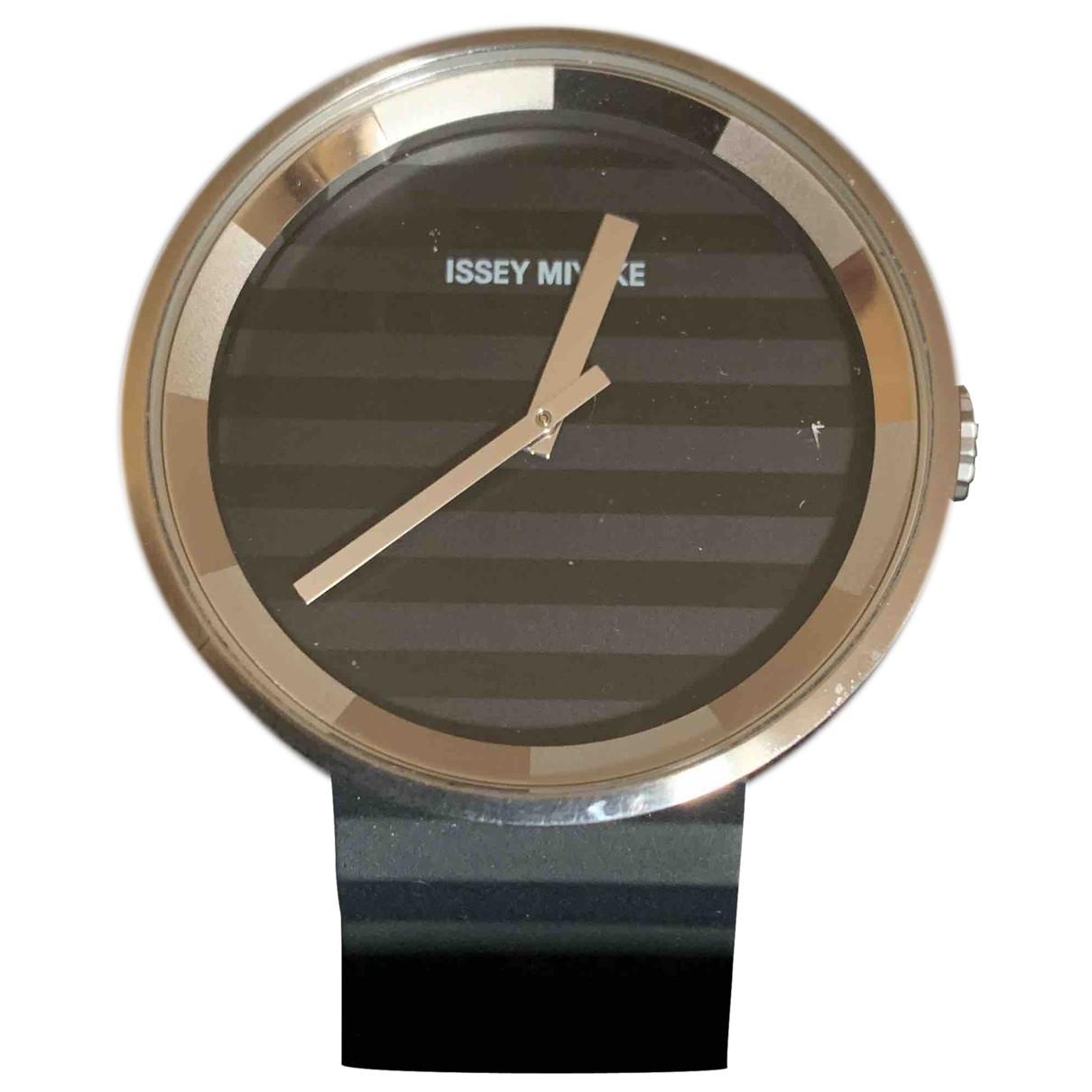 Issey Miyake \N Uhr in  Schwarz Stahl