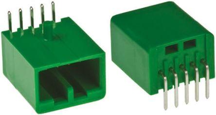 JAE , IL-AG5, 10 Way, 1 Row, Right Angle PCB Header