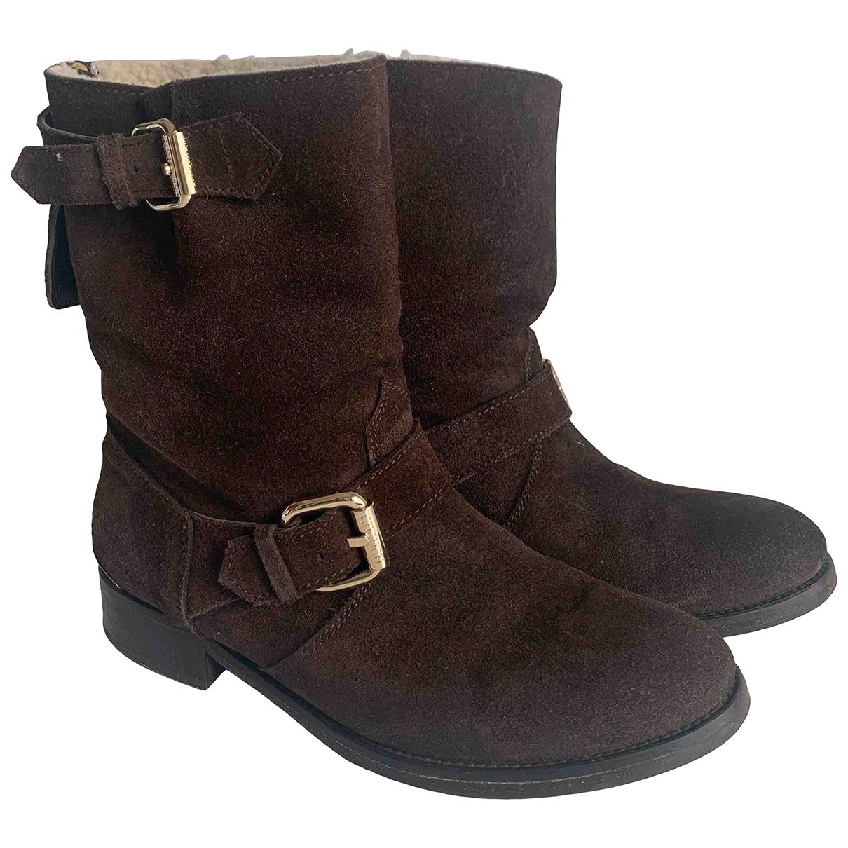 Carolina Herrera \N Brown Fur Boots for Women 39 EU