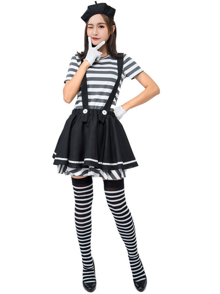 Milanoo Halloween Prison Costumes Prisoner Skirt Holiday Costume
