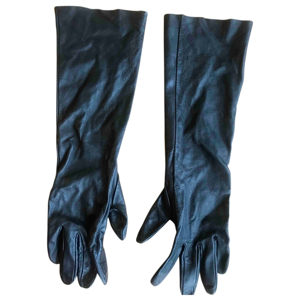 Cos - Gants   pour femme en cuir - noir