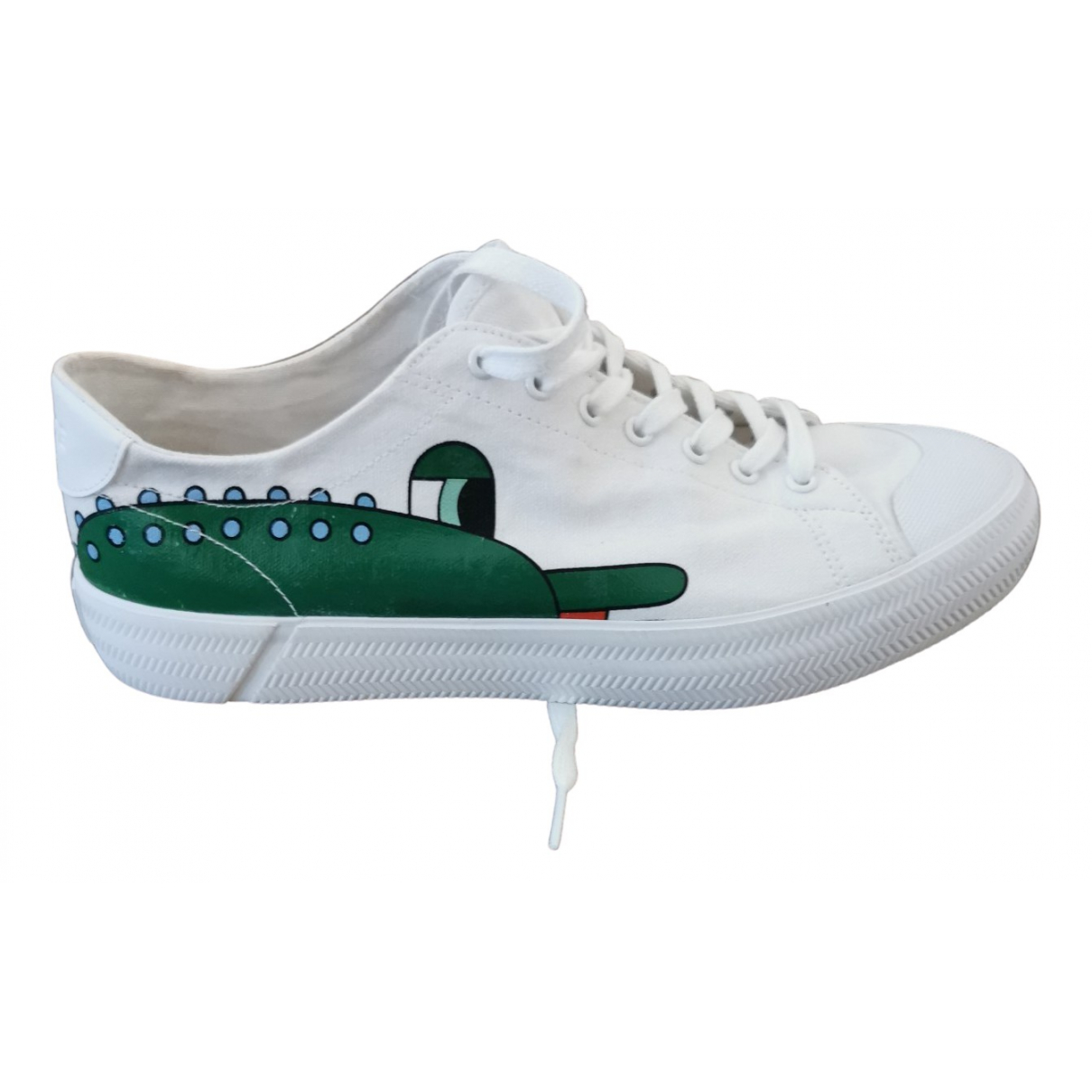 Lacoste \N White Cloth Trainers for Men 43 EU