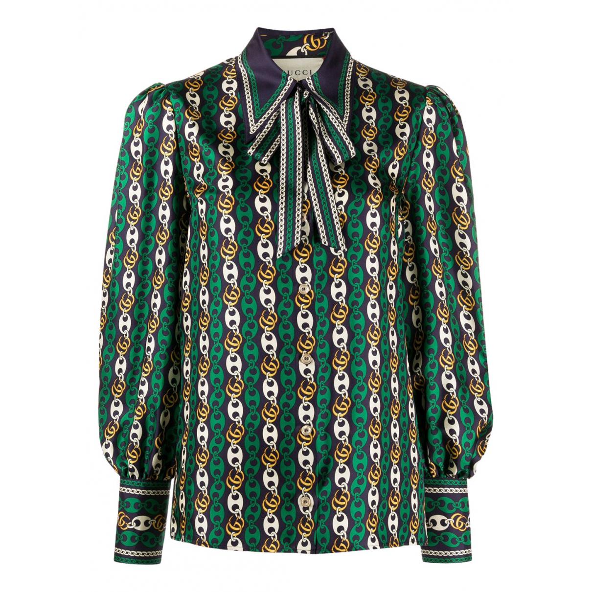 Gucci - Top   pour femme en soie - vert