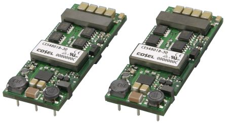 Cosel CES 102W Isolated DC-DC Converter PCB Mount, Voltage in 36 → 76 V dc, Voltage out 6V dc