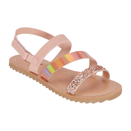 Arizona Girls Adelaide Slingback Strap Flat Sandals, 11 Medium, Yellow