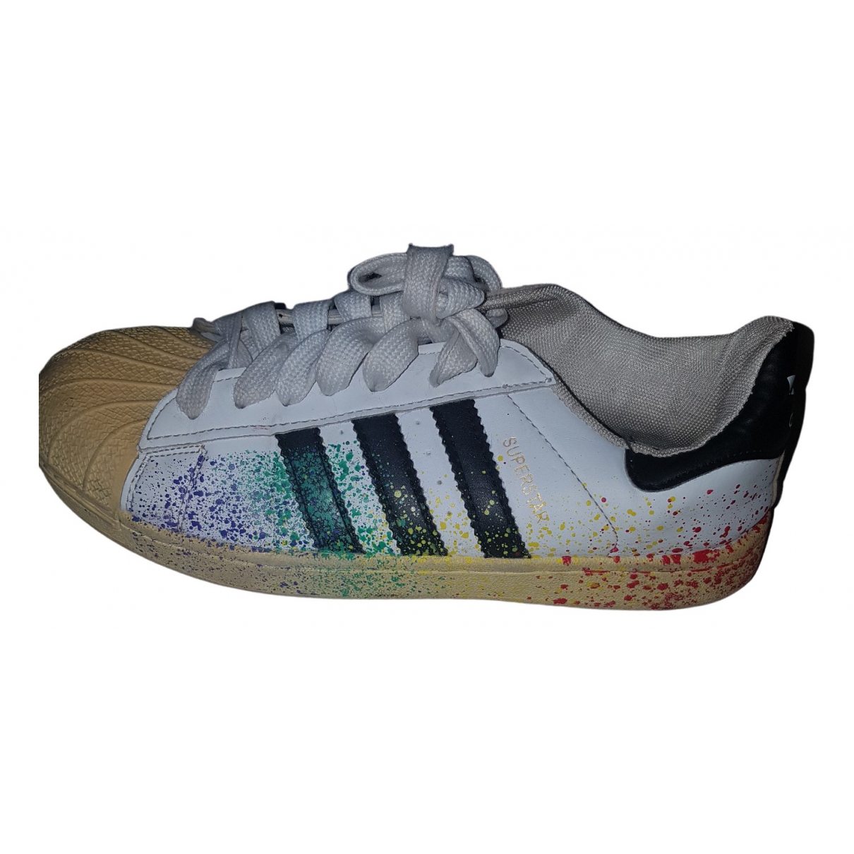 Adidas Superstar White Leather Trainers for Men 40 EU