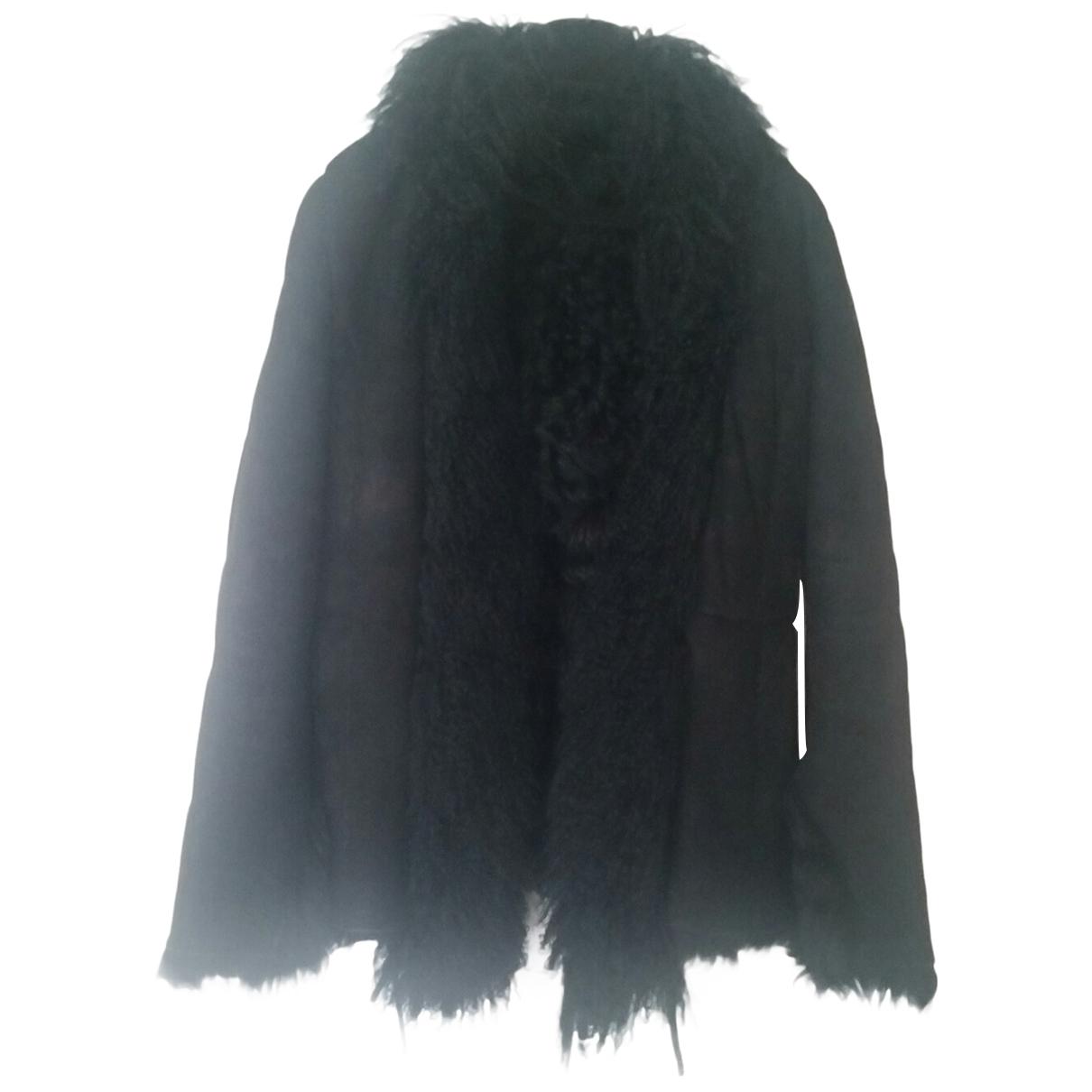 Patrizia Pepe - Blouson   pour femme en mouton - noir