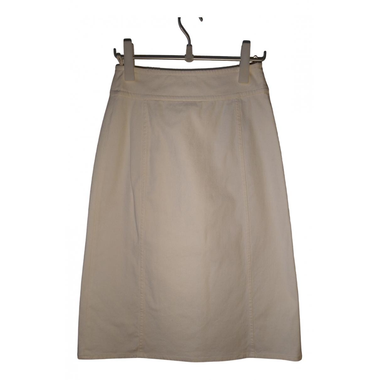 Prada N White Denim - Jeans skirt for Women 40 IT