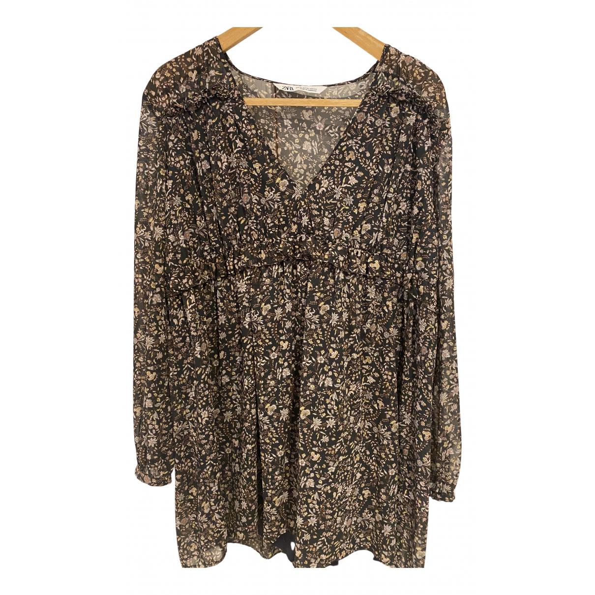Zara \N Kleid in Seide