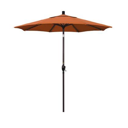 GSPT758117-5417 7.5' Pacific Trail Series Patio Umbrella With Bronze Aluminum Pole Aluminum Ribs Push Button Tilt Crank Lift With Sunbrella 2A Tuscan