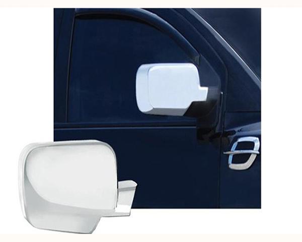 Quality Automotive Accessories Chrome Plated ABS Plastic 2-Piece Mirror Cover Set Nissan Titan 2006