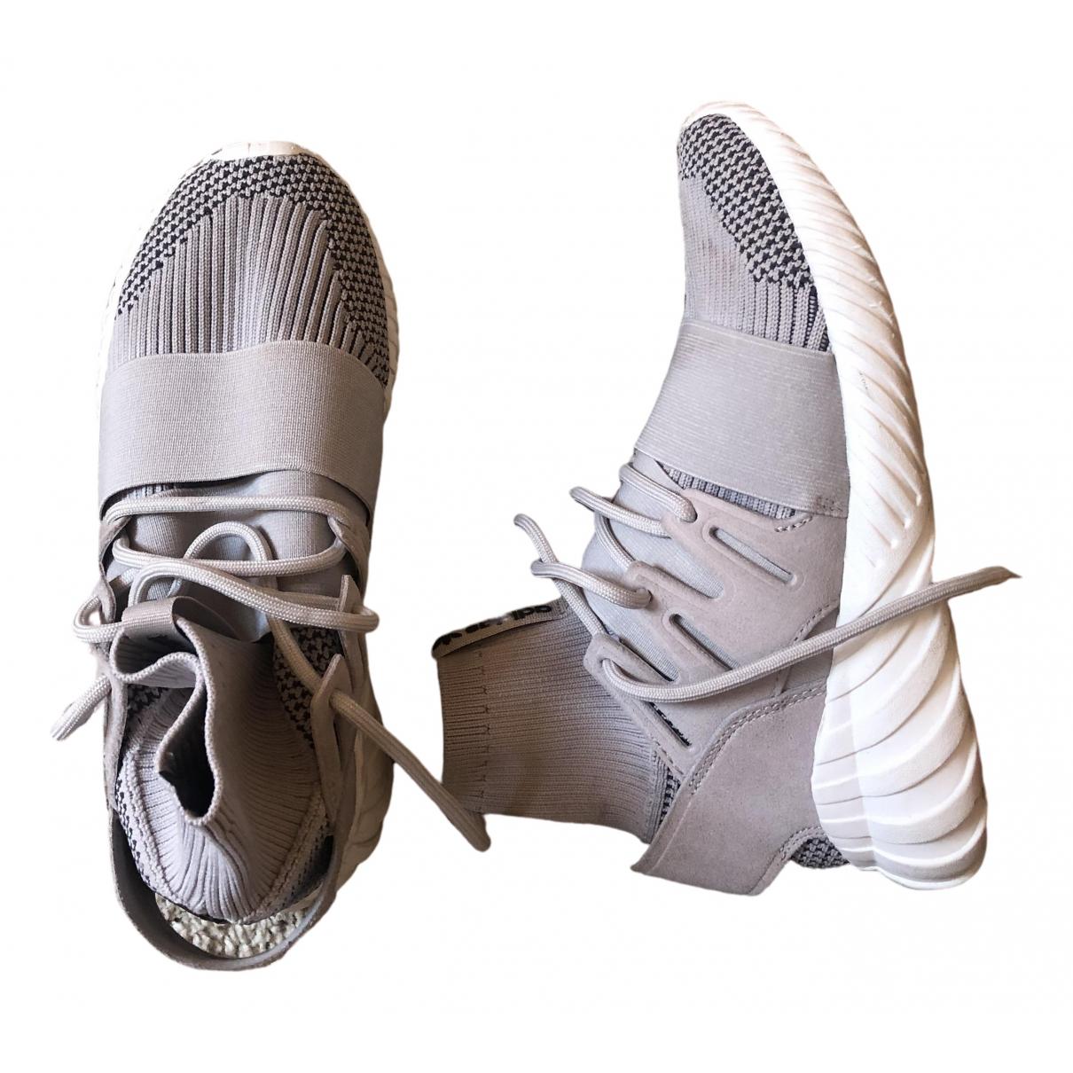Adidas Tubular Sneakers in  Grau Leinen