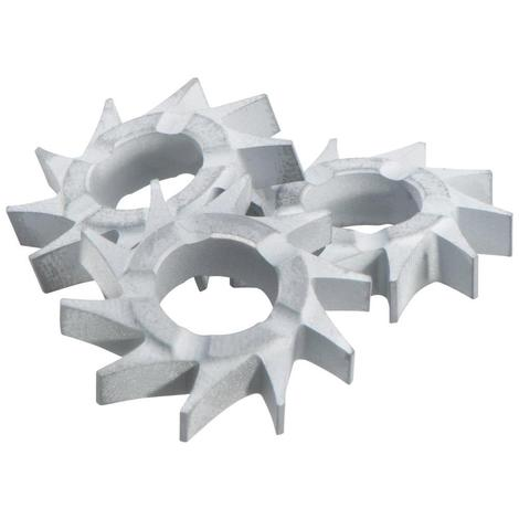 Metabo 10-Piece Tungsten-Carbide Cutting Stars, Flat Head