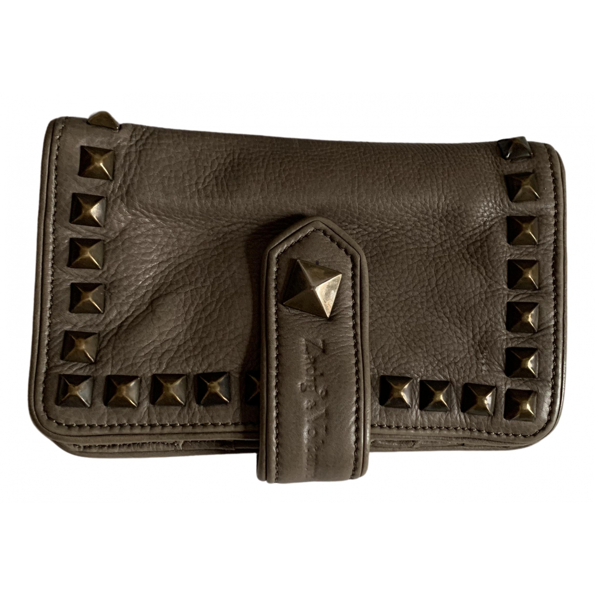 Zadig & Voltaire N Grey Leather wallet for Women N