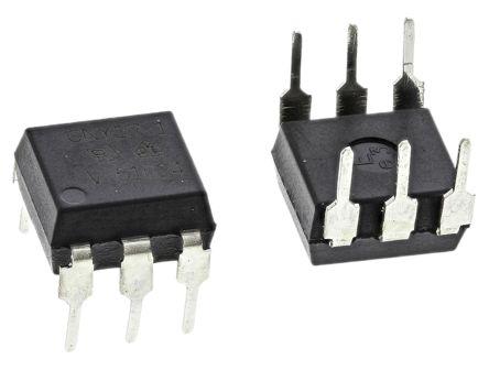 Vishay , CNY17-1 DC Input Transistor Output Optocoupler, Through Hole, 6-Pin PDIP (10)
