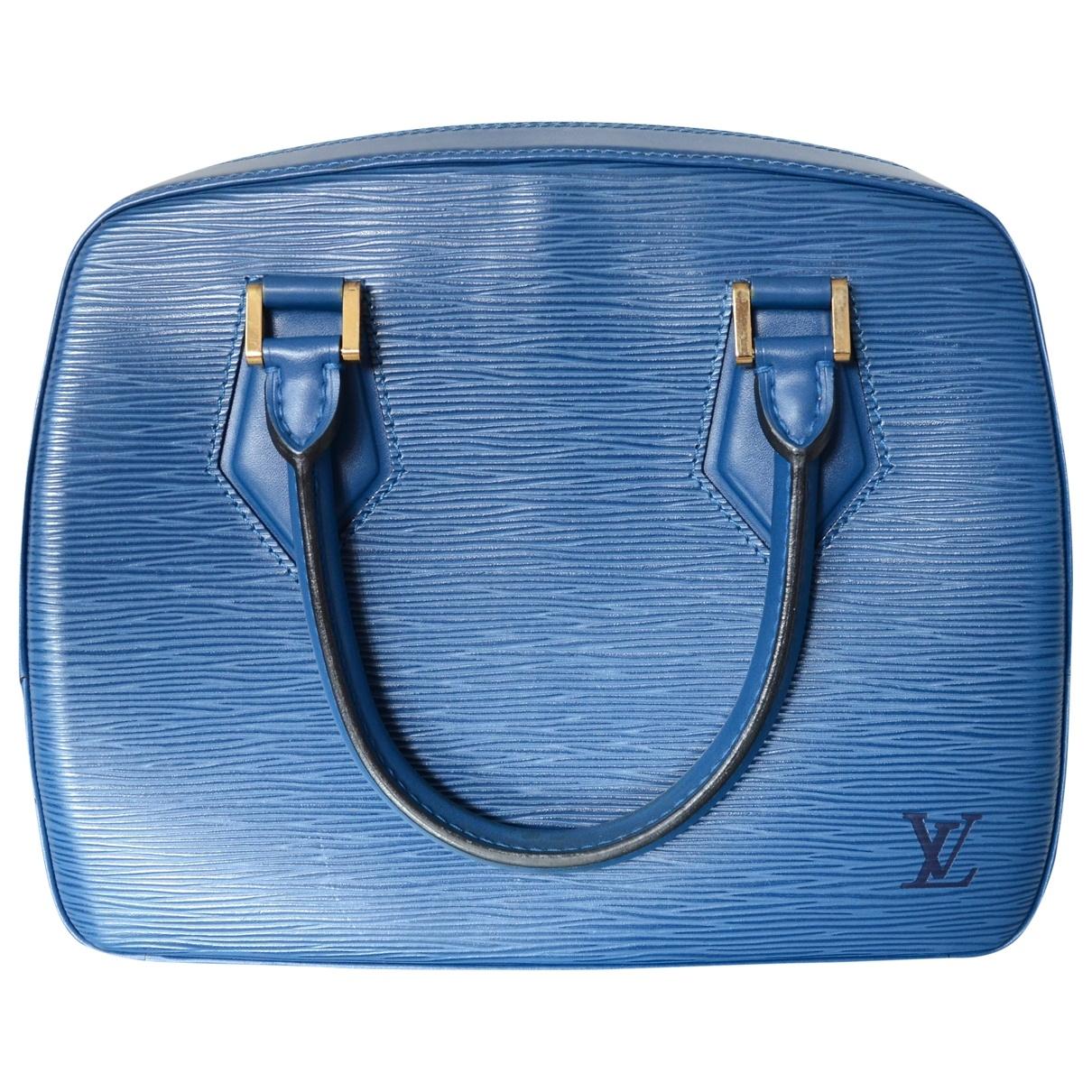 Louis Vuitton - Sac a main Sablon pour femme en cuir - bleu