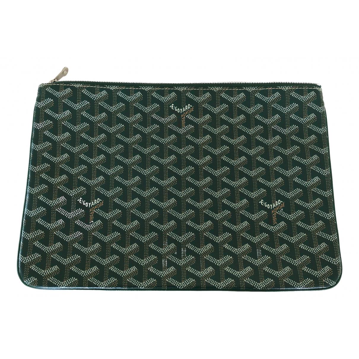 Goyard Sénat Green Cloth Clutch bag for Women \N