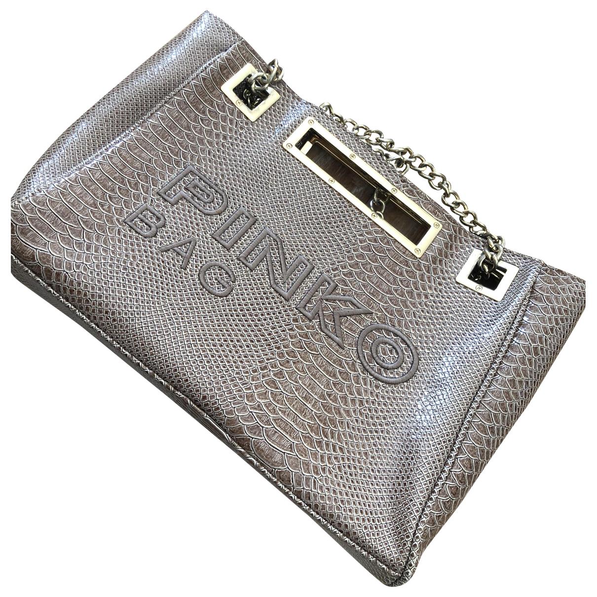 Pinko \N Handtasche in  Beige Synthetik