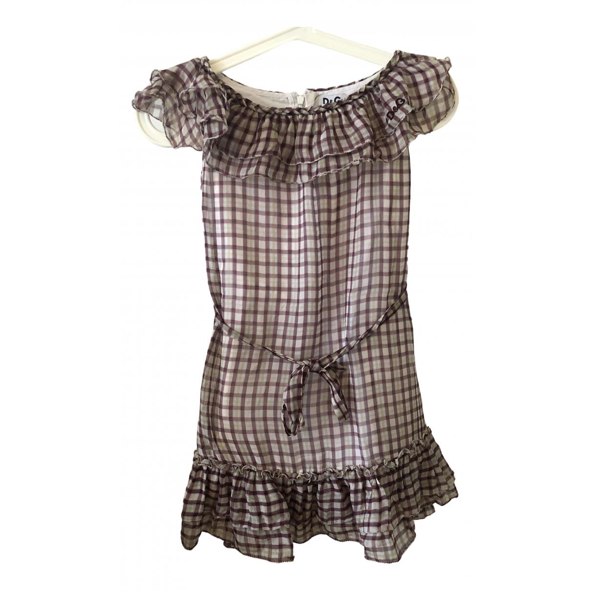 D&g \N Kleid in  Lila Baumwolle