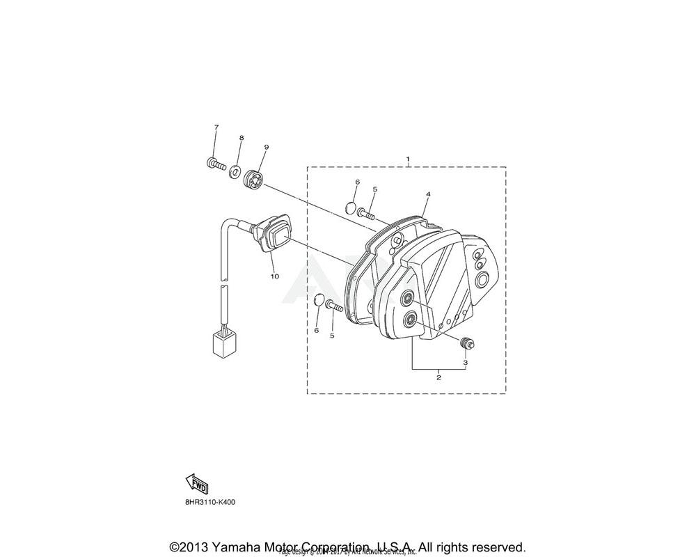 Yamaha OEM 8HA-83500-30-00 METER ASSY