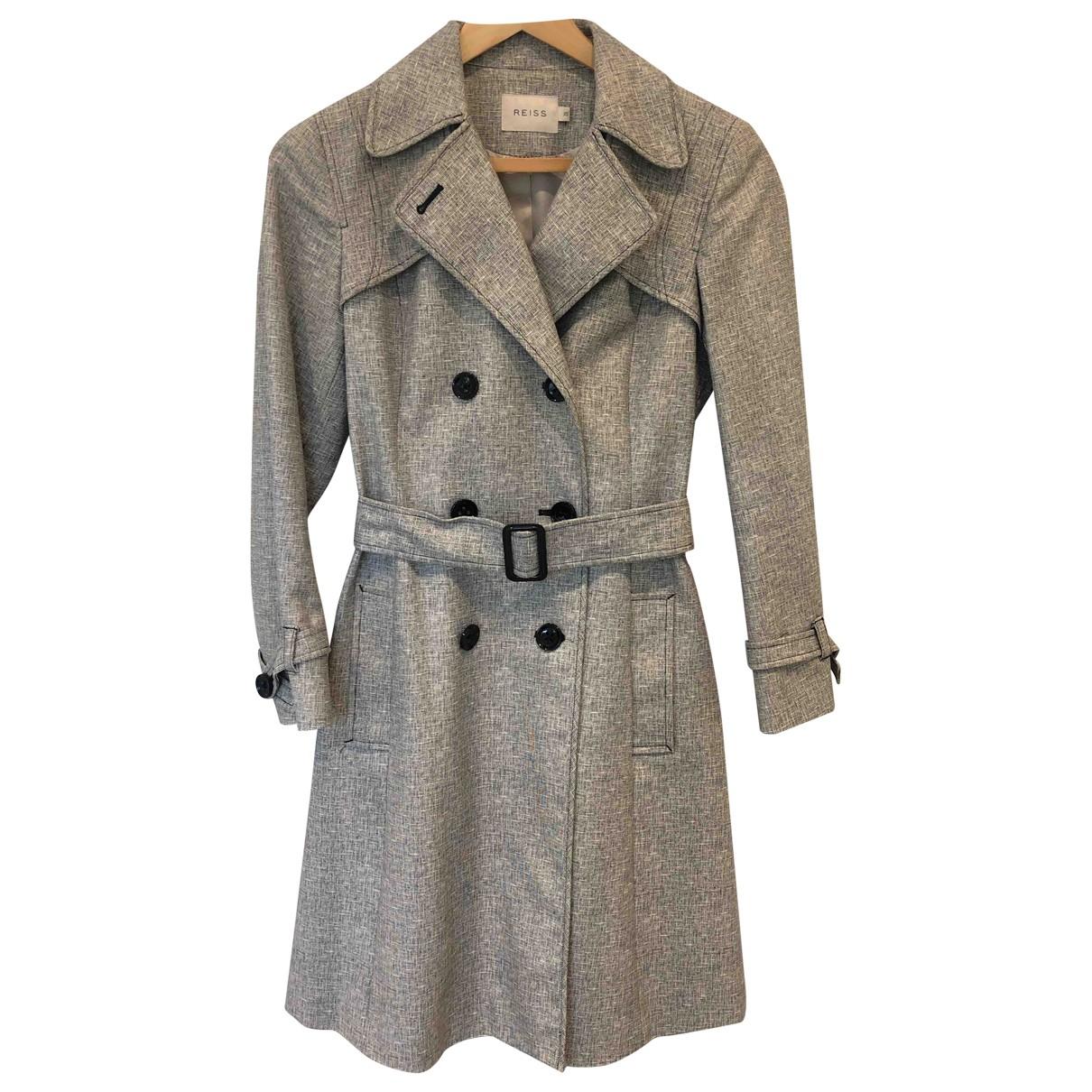 Reiss - Manteau   pour femme en coton - gris