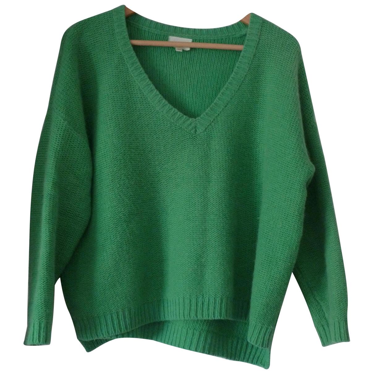 Bel Air \N Pullover in  Gruen Wolle