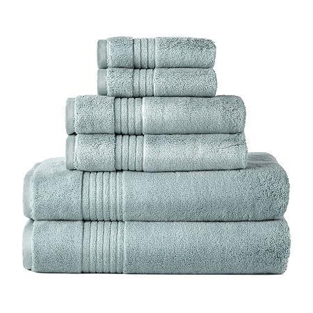 Liz Claiborne Signature Plush Bath Towel Collection, One Size , Blue