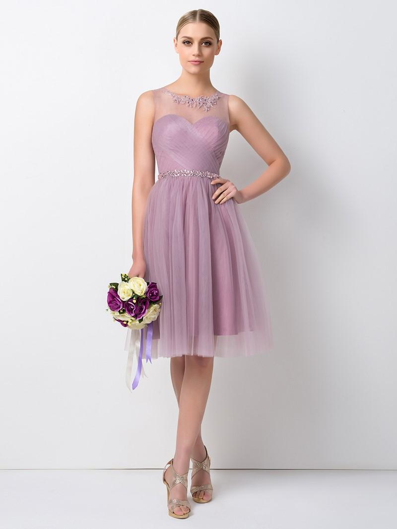 Ericdress Beading Knee Length Bridesmaid Dress