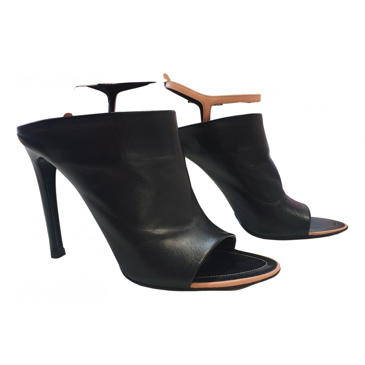 Balenciaga \N Black Leather Sandals for Women 40.5 EU