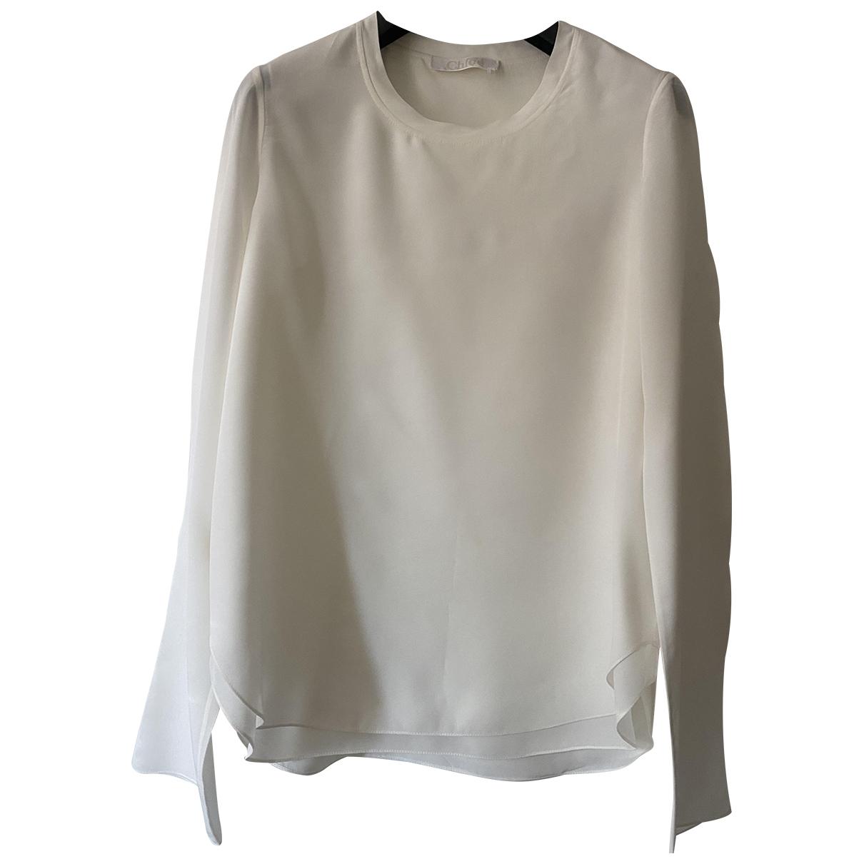 Chloé \N Ecru Silk  top for Women 34 FR